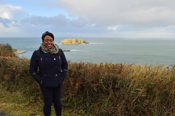 Me at Carrick-a-Rede, Northern Ireland