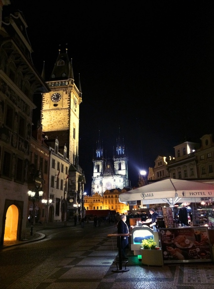 Old Town Square, Prague at Night, Czech Republic