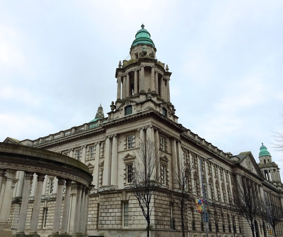 Part of Belfaast Town Hall, Northern Ireland