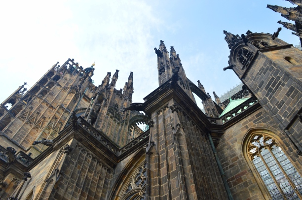 Part of Wenceslas Cathedral, Prague, Czech Republic
