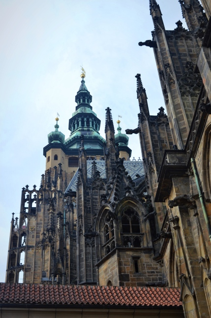 Part of Wenceslas Cathedral, Prague, Czech Republic