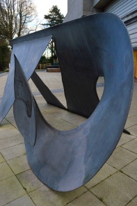 Sculpture outside Ulster Museum, Northern Ireland