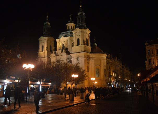 St Nicola's Church, Prague at Night, Czech Republic
