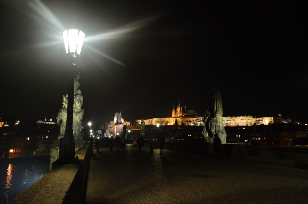 The Charles Bridge at night, Prague, Czech Republic