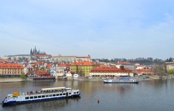 View from Charles Bridge, Prague, Czech Republic