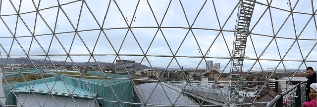 View from Victoria Shopping Centre Viewing Platform, Belfast, Northern Ireland
