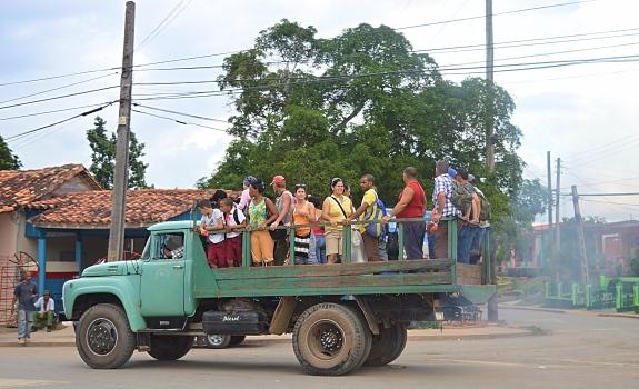 Cubans Communting, Vinales, Cuba