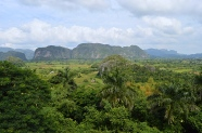 View of Vinales Valley from Hotel Los Jazmines, Cuba