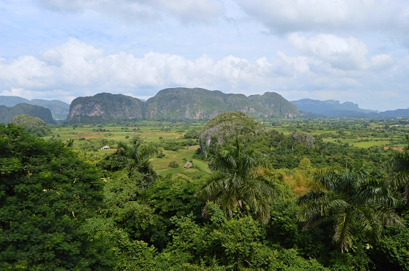 View of Vinales Vally from Hotel Los Jazmines, Cuba