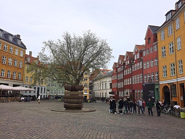A Colourful Square in Copenhagen, Denmark