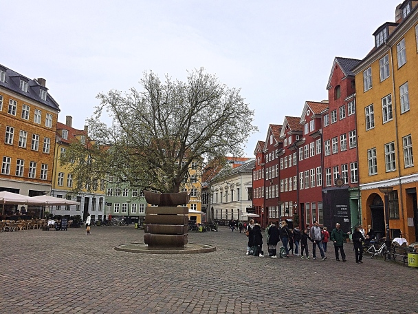 A Colourful Square in Copenhagen, Denmark