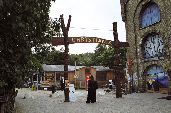Entrance to Christiania, Copenhagen, Denmark