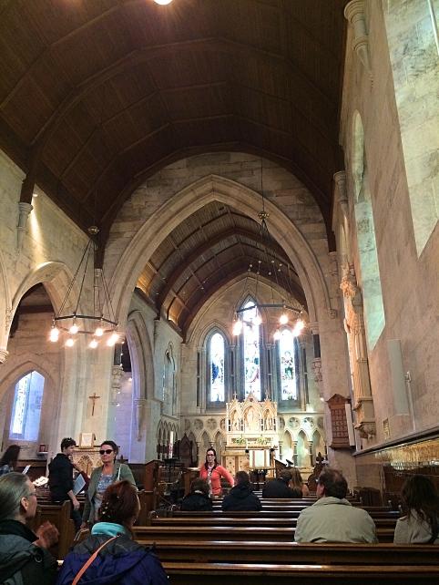 Inside St Alban's Church, Copenhagen, Denmark