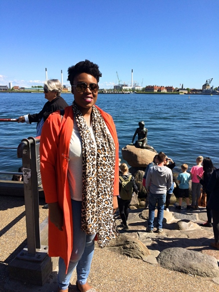Me at the Little Mermaid Statue, Copenhagen, Denmark