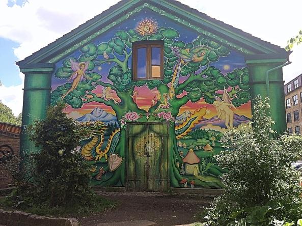 Mural in Christiania, Copenhagen, Denmark