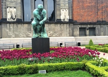 Rodin's Thinker at the Ny Carlsberg Glyptotek Museum Garden, Copenhagen, Denmark