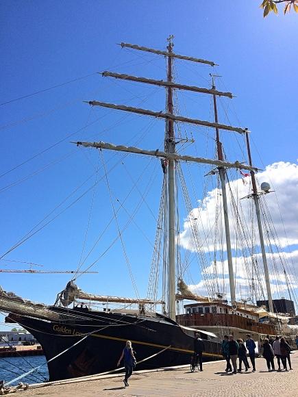 Ship on Copenhagen Harbour, Denmark