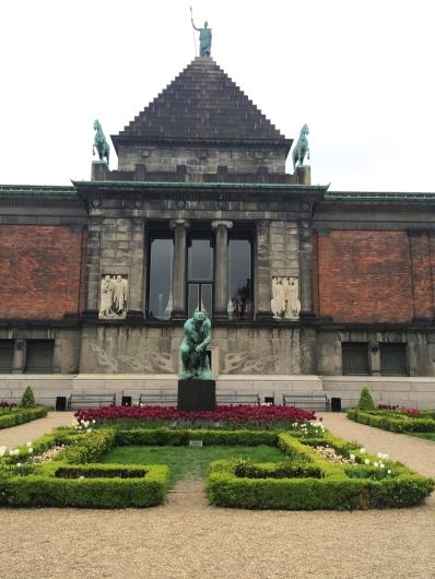 The Back of Ny Carlsberg Glyptotek Museum, Copenhagen, Denmark