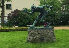 The Devil Sculpture, Ny Carlsberg Glyptotek Museum Garden, Copenhagen, Denmark