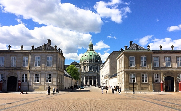 The MarbleChurch From The Courtyard of The Royal Palaces, Copenhagen, Denmark