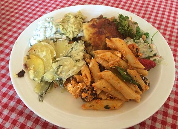 Vegetarian Meal at Christiania, Copenhagen, Denmark