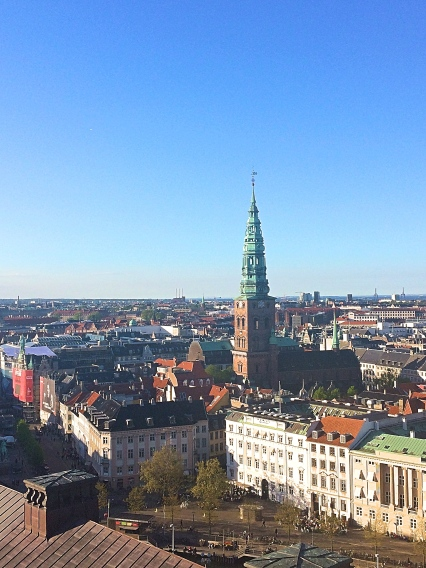 View from Tarnet Tower, Copenhagen, Denmark