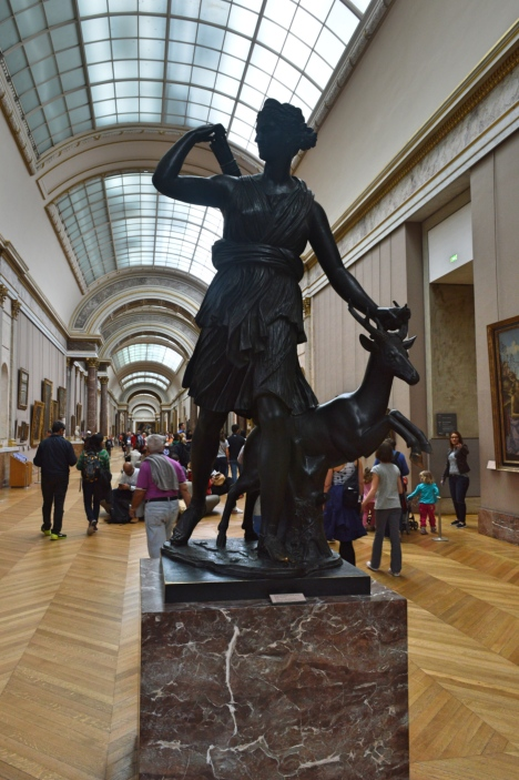 Diane à la biche (Artemis with a Doe), Louvre Museum, Paris, France