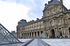 The Old Grand Palace and Louvre Museum, Paris, France