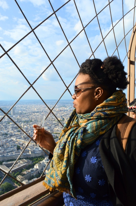 Me on the Eiffel Tower, Paris, France
