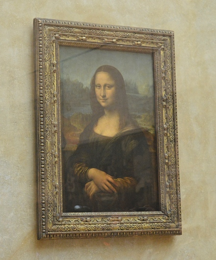 The Mona Lisa, Louvre Museum, Paris, France