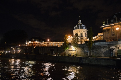 Paris France by Night on the River Seine
