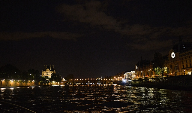 Paris, France by Night From the River Seine