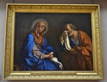 Saint Pierre pleurant devant la Vierge, dit aussi Les Larmes de saint Pierre, Louvre Museum, Paris, France
