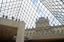 Inside the Louvre Pyramid, Paris, France