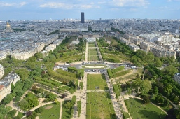 View from Eiffel Tower, Paris, France