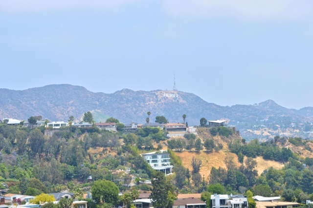 Hollywood sign from Runyon Canyon Park, Los Angeles, USA