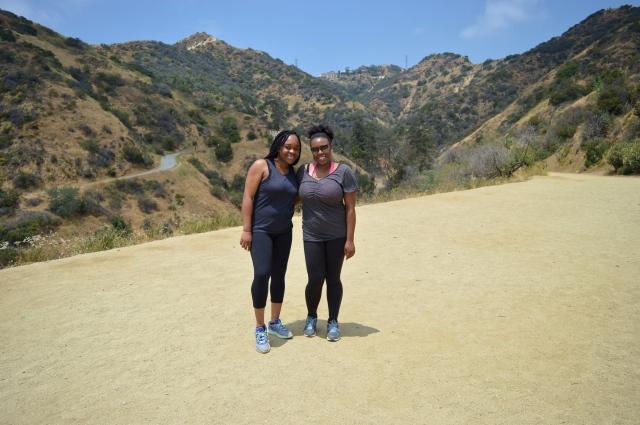 My Sister and I at Runyon Canyon Park, Los Angeles, USA