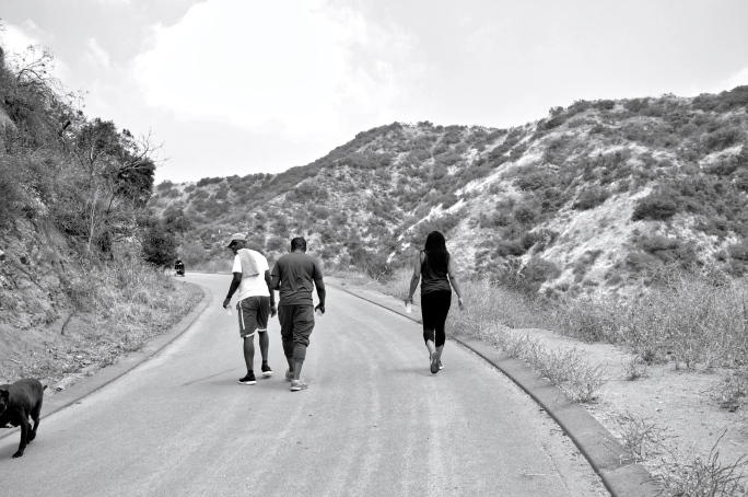 The Family at Runyon Canyon Park, Los Angeles, USA